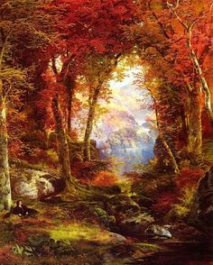 Thomas Moran, Under the Trees  1865  Private Collection