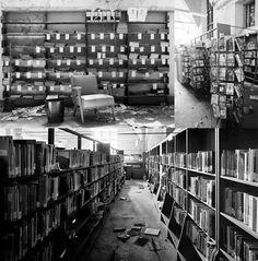 Detroit, EE.UU. Las  bibliotecas quedan  abandonadas con sus estanterías repletas  de  libros, casi ordenados. Este tipo de  sucesos levantan ampollasj porque  en otros puntos de la  ciudad, los  colegios no tienen material  escolar. En  la imagen, la  biblioteca pública H de East M Side