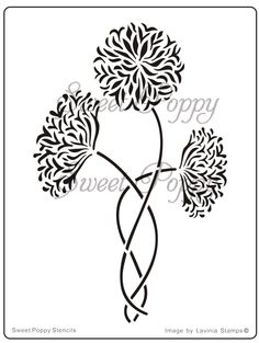 Sweet Poppy Stencil: Beautiful Blossoms