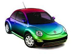 Rainbow VW Beetle
