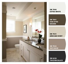 Paint colors from Chip It! by Sherwin-Williams  dining room w/chair rail