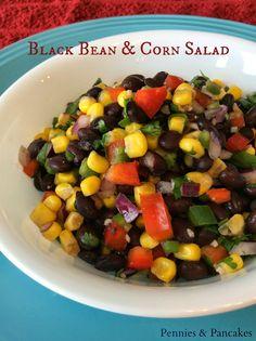 Black Bean andCorn Salad - perfect for summer BBQ's, family gatherings, and  pot-lucks.