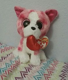 5e89e8ceec8 Ty Beanie Boos Romeo the dog this is the hundred thirty third of the ty  beanie boos that I own .