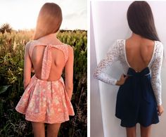 FABULOUS AND STYLE: Open back dresses for summer!!