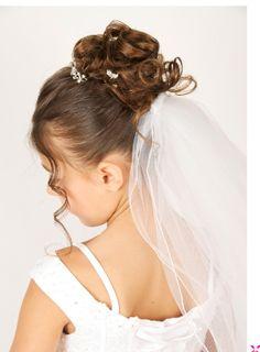 First Communion Hair ~ KidSnips.com