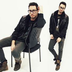 Life Clothing Co. T Shirt, Forever 21 Jacket, Levi's Jeans, Aldo Boots, Tom Ford Glasses