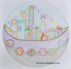 Sintmandala. Leuk om kinderen zelf te laten doen i.p.v. gewoon een mandala inkleuren. Art Plastique, Children, Kids, Mandala, San, Teaching, Logos, School, Drawings