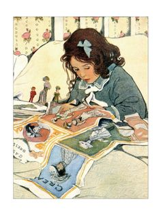 Picture Papers Print by Jessie Willcox-Smith at Art.com