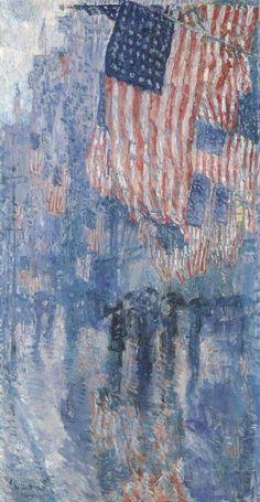 """""""The Avenue in the Rain"""": Fredrick Chillde Hassam"""