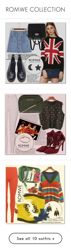 """""""ROMWE COLLECTION"""" by mini-kitty ❤ liked on Polyvore featuring romwe, Mulberry, Topshop, MICHAEL Michael Kors, WearAll, Ilse Jacobsen Hornbaek, Pussycat, Filling Pieces, Balmain and vintage"""