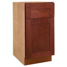 12x34.5x24 in. Kingsbridge Assembled Base Cabinet with 2 Rollout Trays in Cabernet