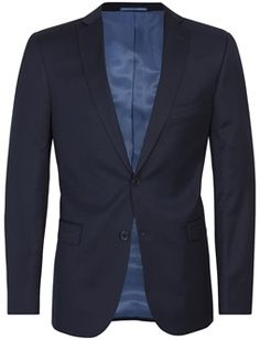 Our top suit! In this classy navy suit jacket of 100% premium quality wool you're always well dressed! Remember that all our suits also come in suit package Navy