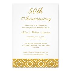 129 Best 50th Wedding Anniversary Invitations Images Anniversary