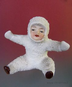 Early Hertwig Snowbaby Sitting Tumbler