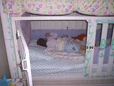 This is Becca's bed.   This allows our Special needs daughter to have a safe, special place to sleep.  We did not put the top bunk in place. https://lifewithbecca.wordpress.com/2013/09/13/a-bed-all-of-her-own/    The link is to  my blog post about the bed with better details on how we made the bed.