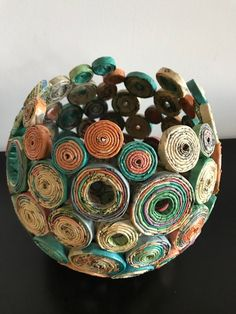 Art/Decorations from recycled newspapers etsy recycled paper crafts, recycl Recycled Magazine Crafts, Recycled Paper Crafts, Recycled Magazines, Newspaper Crafts, Recycled Crafts, Newspaper Basket, Recycle Newspaper, Recycled Materials, Recycling Of Paper