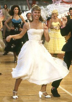 """Olivia Newton John in """"Grease"""" 1978 Grease Sandy, Sandra Dee Grease, Grease Costumes, Movie Costumes, Woman Costumes, Couple Costumes, Pirate Costumes, Group Costumes, Halloween Costumes"""