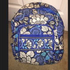 Vera Bradley book bag Blue Bayou Vera Bradley book bag, has its wear as shown in the 3rd picture. Still has a long life left in it. Vera Bradley Bags Backpacks