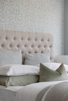 Muted colours in the bedroom are trending this season, so display your purest white, pale greens, grey or pastels! #masterbedroom #bedroomdesign #lachlanplan #showhome #karakashowhome #interiordesign #generationhomesnz Home Bedroom, Master Bedroom, Bedrooms, Shades Of Green, Green And Grey, Beautiful Sites, Muted Colors, Pastels, Dreaming Of You