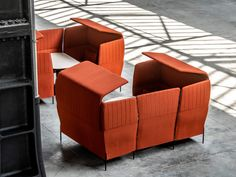 Noisy workspace getting you (or your employees) down? Here are nine acoustic solutions - News - Frameweb Office Noise, Woven Image, Floating Lights, Porous Materials, Ceiling Hanging, Ergonomic Chair, Italian Furniture, Color Blending, Common Area