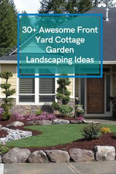 30+ Awesome Front Yard Cottage Garden Landscaping Ideas #gardenlandscapingideas Landscaping Ideas, Garden Landscaping, Garden Styles, Garden Design, Yard, Cottage, Exterior, Landscape, Awesome