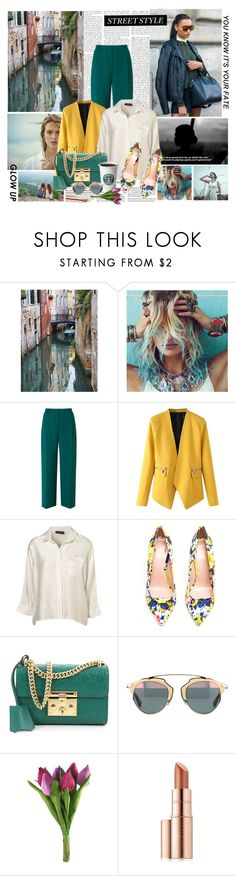 """Where flowers bloom,so does hope"" by anni000 ❤ liked on Polyvore featuring DL1961 Premium Denim, L.K.Bennett, WithChic, Topshop, MSGM, Gucci and Estée Lauder"