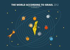 World According to Israel Print   Alphadesigner Art Store