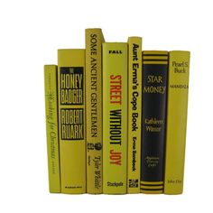 Yellow Decorative Books, Vintage Wedding Decor , Vintage Book Decor , Home Decor , Photo Prop , Bookshelf Decor , Old Book Decor ,  #DecadesofVintage #oldbooks #homedecor #decorativebooks #booksbycolor #vintagebookdecor #interiordesign #vintagehomedecor #bookshelfdecor #bookhomedecor