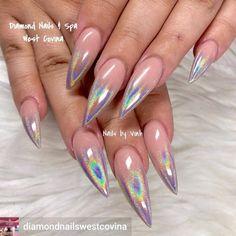 Perfect #holographicnails #ombrenailart #nailart #naildesigns #summernails