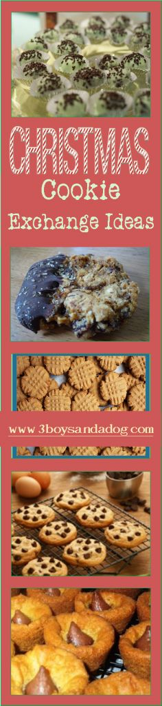 Christmas Cookie Exchange Ideas - - A Christmas Cookie exchange is a great way to get a ton of different cookies for gifts and just for your house without having to make a ton of different cookies! Each person makes a. Cookie Exchange Party, Christmas Cookie Exchange, Christmas Sweets, Christmas Cooking, Christmas Goodies, Christmas Candy, Merry Christmas, Holiday Cookies, Holiday Treats