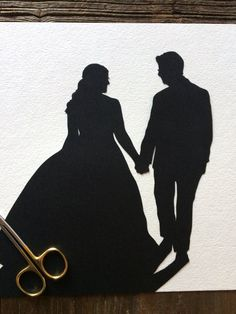 Custom Anniversary Paper Portrait 8 by 10 Wall Art Silhouette Pictures, Silhouette Portrait, Silhouette Art, First Anniversary Paper, Wedding Silhouette, Photo Look, Wedding Paper, Paper Gifts, Wedding Photos