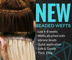 NEW BEADED WEFTS.....LOVE a WEAVE but hate the se in process???Try a BEADED WEFT.Quick, Easy, Full LUSHH extensions.Includes: Applied, blended