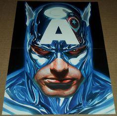 CAPTAIN AMERICA VARIANT POSTER ALEX ROSS #33 MARVEL COMICS AVENGERS STEVE ROGERS
