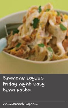 Simmone Logue's tuna pasta recipe is just the thing to whip up for dinner at the end of a busy week. This recipe serves but you can double or triple the ingredients as required to feed the hungry hordes. Canned Tuna Recipes, Yummy Pasta Recipes, Easy Dinner Recipes, Easy Meals, Easy Recipes, Tuna Pasta, Trifle Recipe, Fresh Pasta, Kitchens