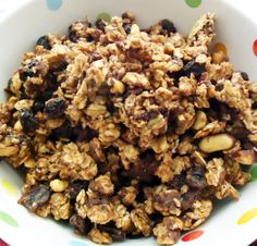Oatmeal Raisin Granola since I'm allergic to walnuts and almonds and pretty much have come to the conclusion I have to make my own granola if I want any