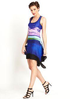 On ideeli: LOVESTITCH Tahitian Sky Asymmetrical Dress