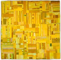 """""""Yellow by Eleanor McCain. A brave monochromatic quilt. Eleanor Mccain, Quilting Projects, Quilting Designs, Monochromatic Quilt, Quilt Modernen, Yellow Quilts, Ecole Art, String Quilts, Contemporary Quilts"""