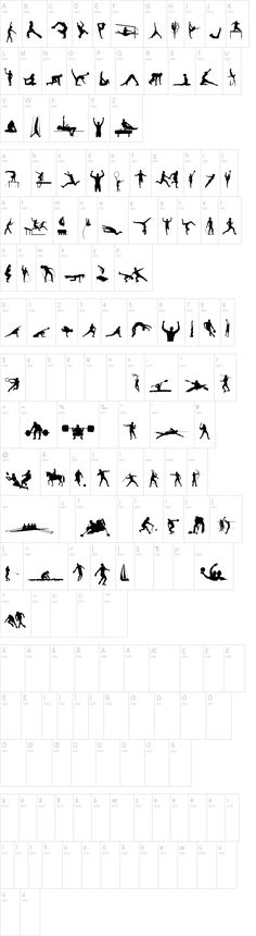 Gymnastics dingbats to use as cut files? - Sports TFB