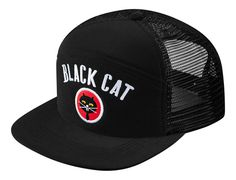 5a41b686c89 Black Cat Military Mesh Back Snapback Cap by SUPREME Five Panel Cap