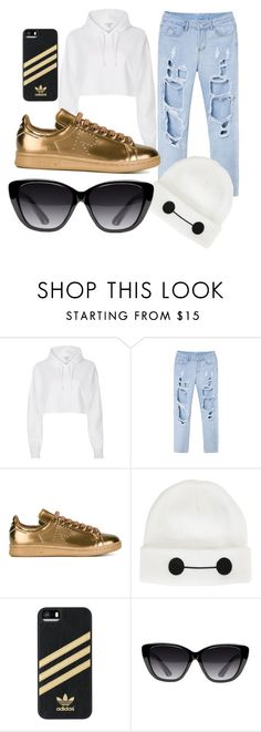 """Untitled #47"" by misszoe101 on Polyvore featuring River Island, adidas, Disney and Elizabeth and James"