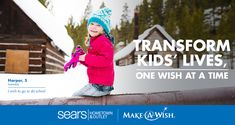 Team up with Kenmore Appliances and Sears Hometown & Outlet Stores to grant wishes and transform lives