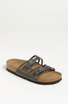Birkenstock 'Granada' Soft Footbed Oiled Leather Sandal available at #Nordstrom WANT.