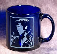 ITS THE KING!! Elvis Presley Coffee Mug Cobalt Blue Coffee Cup by BradGoodellToo, $25.00