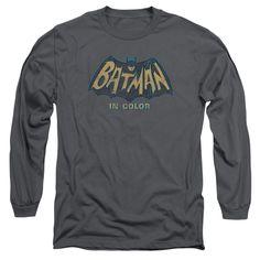 BATMAN CLASSIC TV/IN COLOR-L/S ADULT 18/1-CHARCOAL-2X