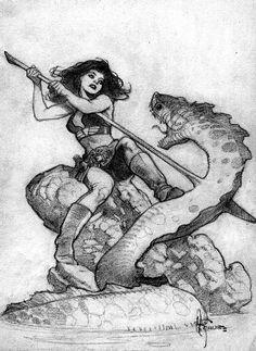 Hannah Spearing Dino Comic Art