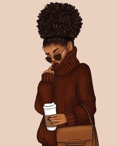 Understand Your Curls with these simple questions Black Art Painting, Black Artwork, Black Love Art, Black Girl Art, Drawings Of Black Girls, Afrique Art, Black Girl Cartoon, Natural Hair Art, Black Art Pictures