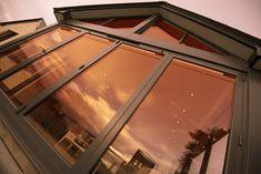 Origin are the UK's leading manufacturer of bespoke aluminium bi-folding doors and windows. Windows 20, Large Windows, Garden S, Home And Garden, Triangle Window, Gable Window, Rear Extension, Aluminium Windows, Window Styles