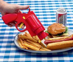 Con esta pistola no vas a poder parar de comer hamburguesas y perritos #molariaentinytien