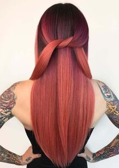 Gorgeous ideas of long sleek hairstyles with beautiful red hair colors for women 2018. Wear these amazing styles of long straight hairstyles with redhead shades is really awesome for those ladies who are still searching for best hair colors. This is best ever hair color choice for you if you have naturally long hair.