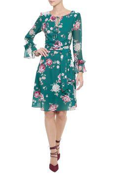 Vestido Crepe Floral Audrey